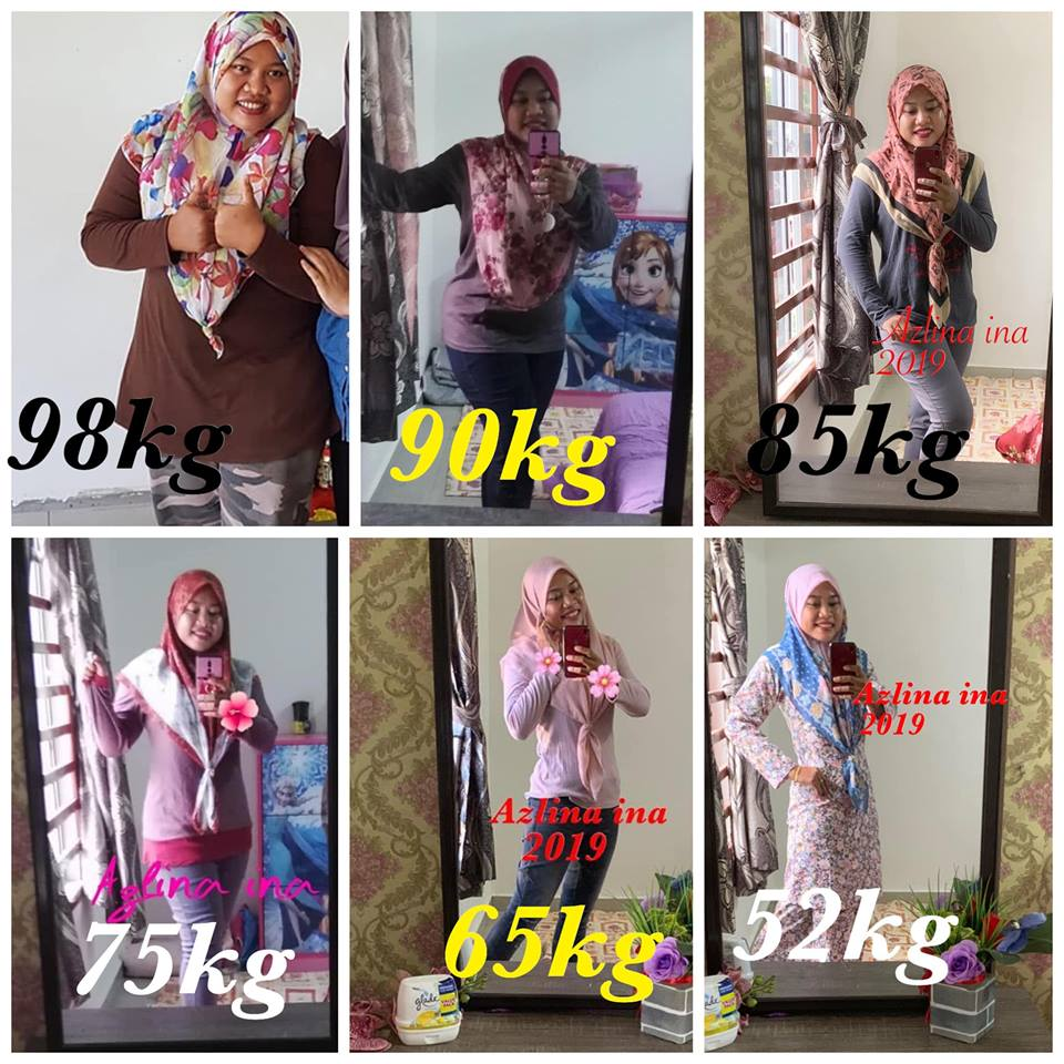 Hasil Diet Eat Clean Macam Tak Percaya Lihat Penampilan Terbaru Cikgu Azlina Ina Turun Hampir 50 Kg Vanilla Kismis