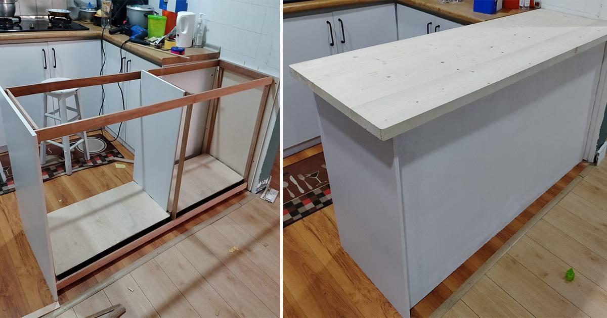 Diy Kaunter Bar Serbaguna Untuk Dapur Guna Plywood Nak Buat Pun Mudah Vanilla Kismis