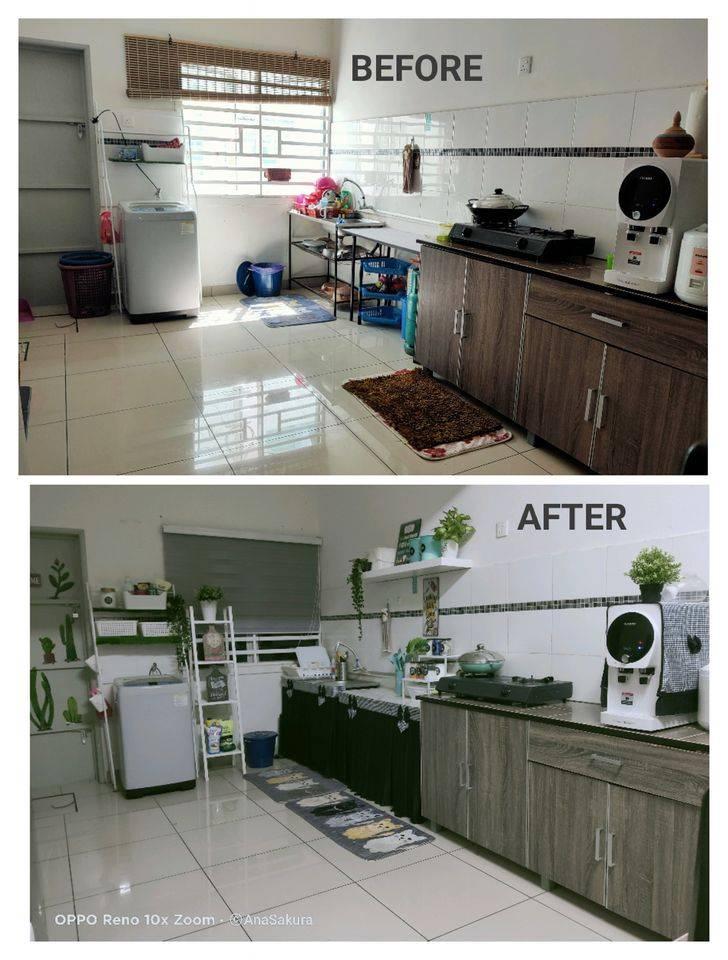Mudahnya Makeover Dapur Tanpa Kabinet Hanya Guna Meja Lipat Sesuai Untuk Rumah Sewa Vanilla Kismis