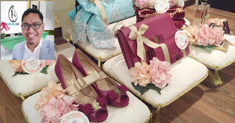 Hantaran Kahwin Beg Tangan Kasut Jam